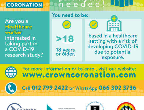 SRC is recruiting healthcare workers for the CROWN Coronation COVID-19 trial